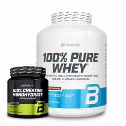 100% PURE WHEY +100% Creatine Monohydrate