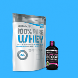 100% pure whey + l-carnitine