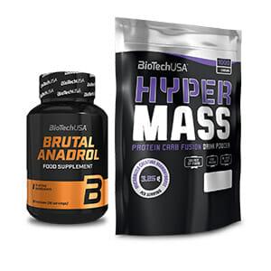 Hyper Mass + Brutal Anadrol un 20% GRATIS si quieres aumentar tu amasa muscular mas rápido gracias a su combinación.