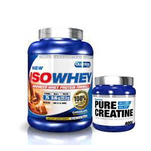 Quamtrax Iso Whey 2,2kg + 400g de creatina